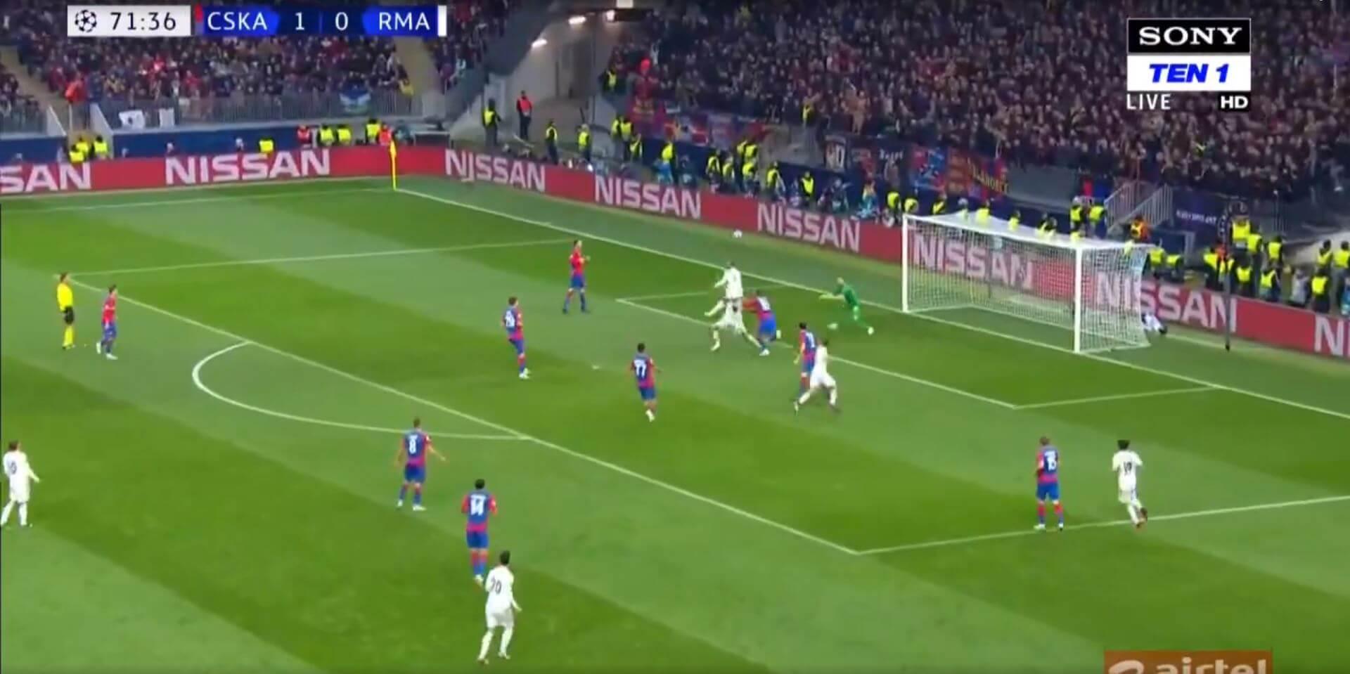 Real Madrid - CSKA Moszkva Bajnokok Ligája