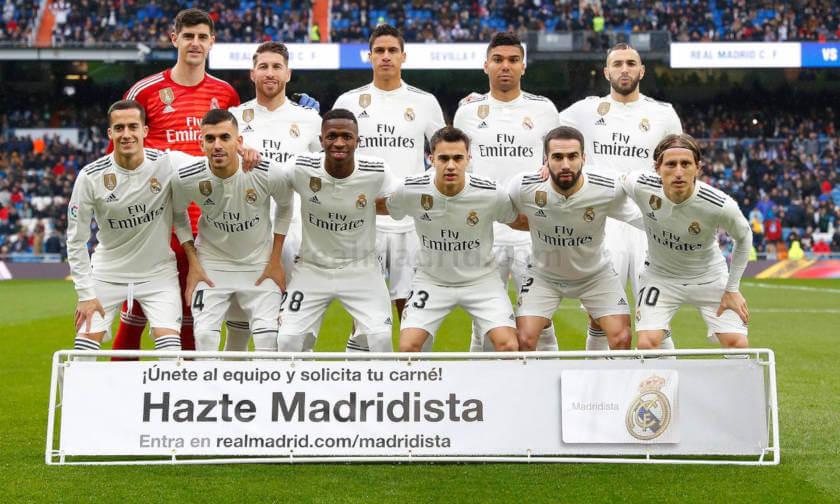 Real Madrid - Sevilla összefoglaló csapatkép