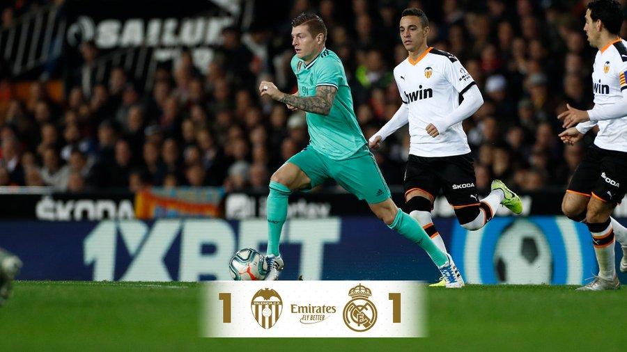 Harcos döntetlen (Valencia – Real Madrid összefoglaló)
