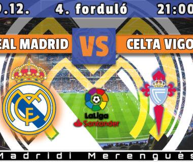 Real Madrid - Celta Vigo beharangozó nyitókép